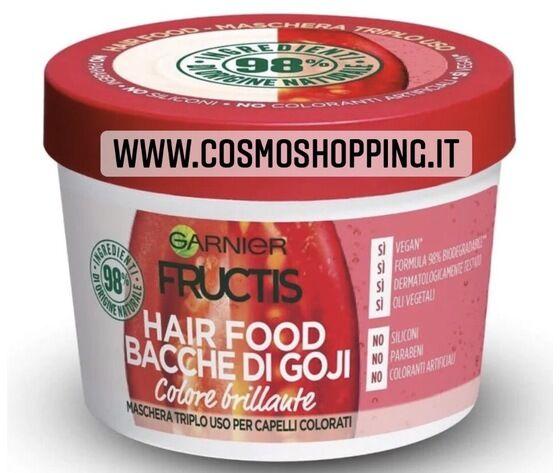garnier fructis hair food bacche di goji maschera triplo uso colore brillante