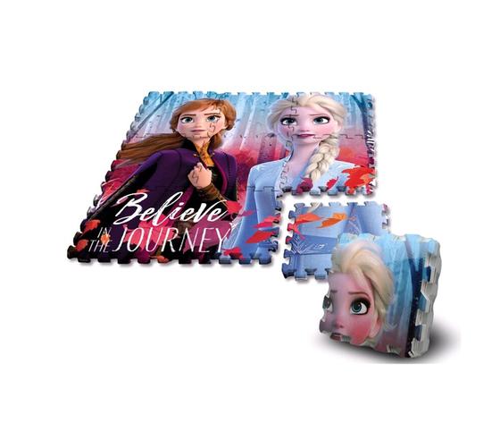 KIDS Tappetino In Schiuma Puzzle 9pezzi 90x90 Frozen Ii