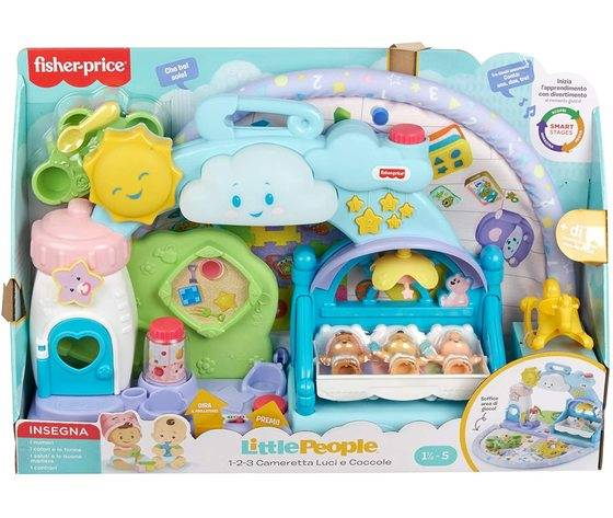 fisher price little people cameretta coccole playset musicale con luci