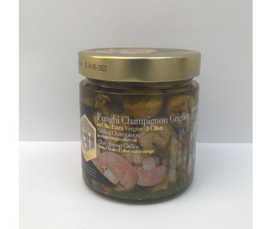 Funghi Champignon Grigliati In Olio Extra Vergine Di Oliva