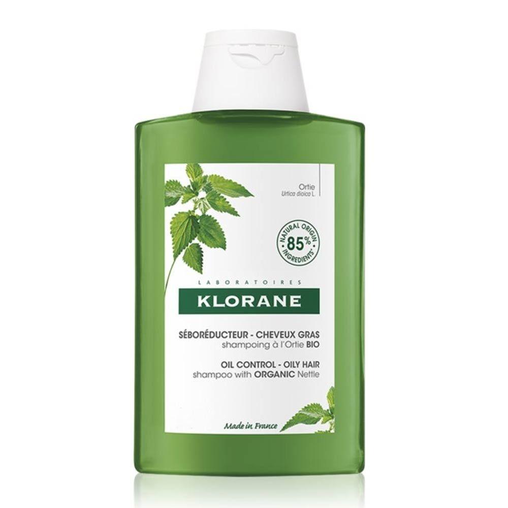 Klorane Ortica - Shampoo Seboriduttore per Capelli Grassi, 200ml