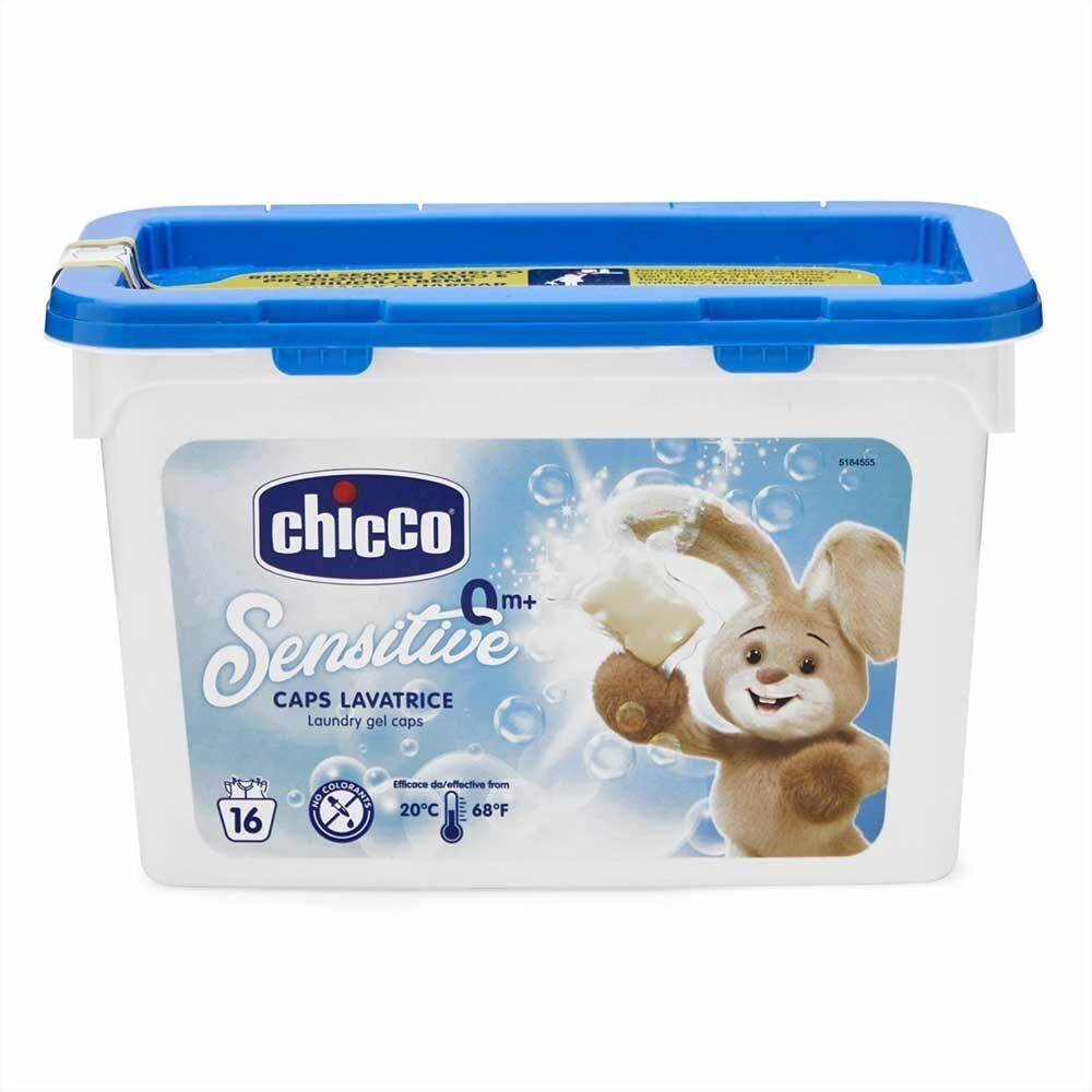 Chicco Sensitive - Detersivo Dosato Lavatrice, 16 Caps