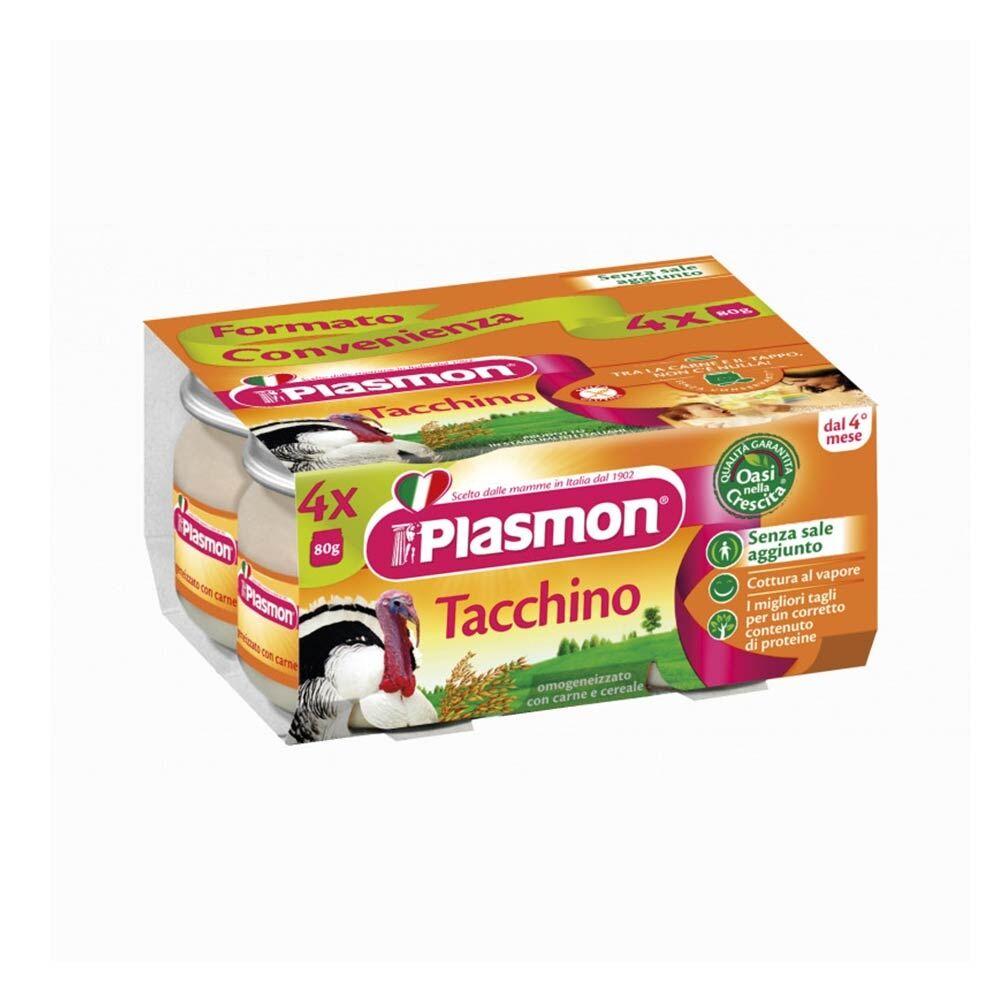 Plasmon Tacchino Omogeneizzato Con Carne E Cereale, 4X80g