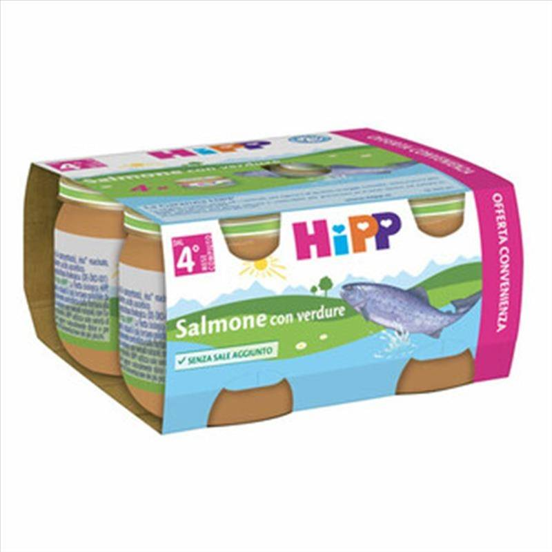 Hipp Salmone Con Verdure Omogeneizzato, 4X80g