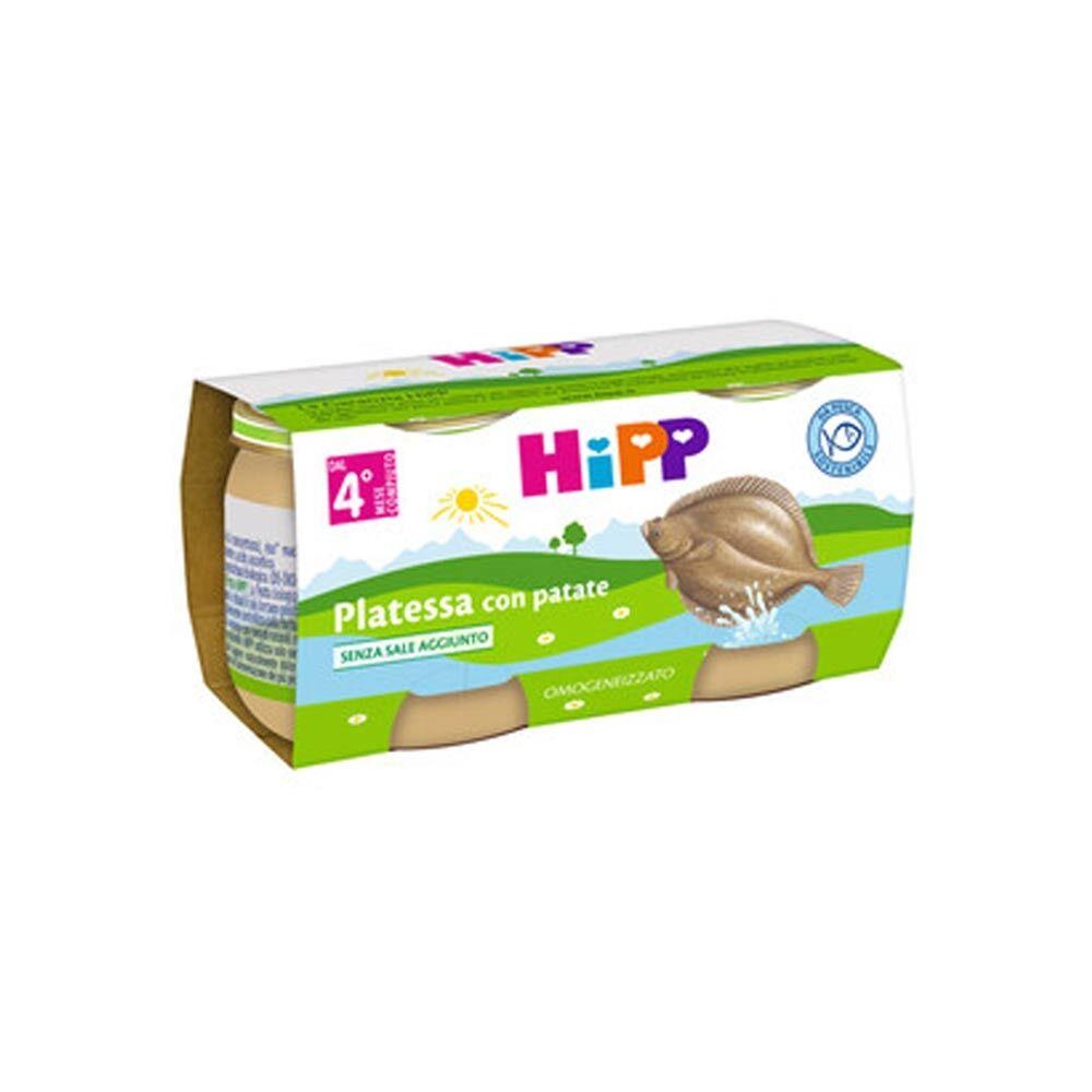 HiPP Biologico Omogeneizzato di Platessa con Patate dai 4+ Mesi, 2 x 80g