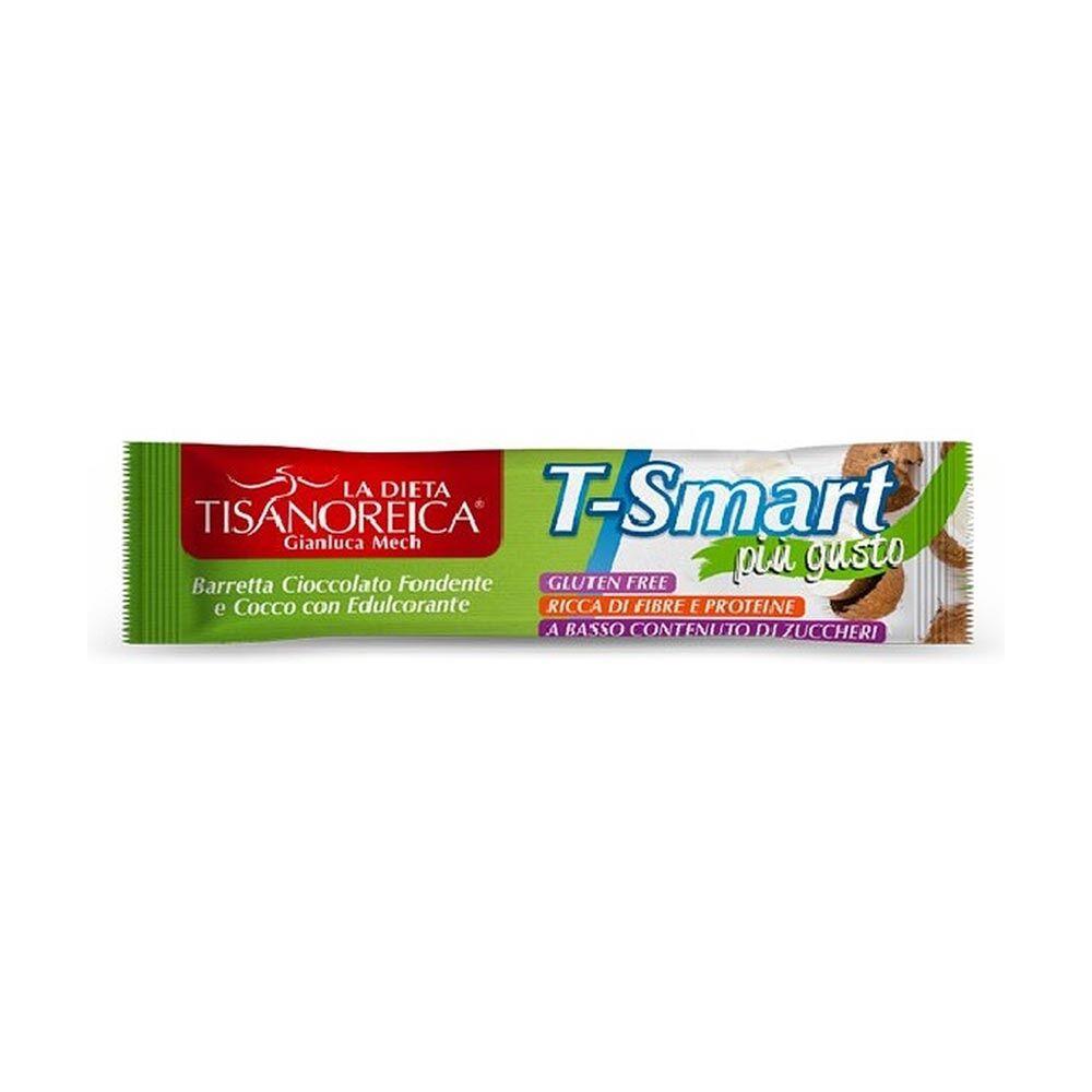 tisanoreica t-smart barretta proteica al cocco ricoperta di cioccolato, 35g