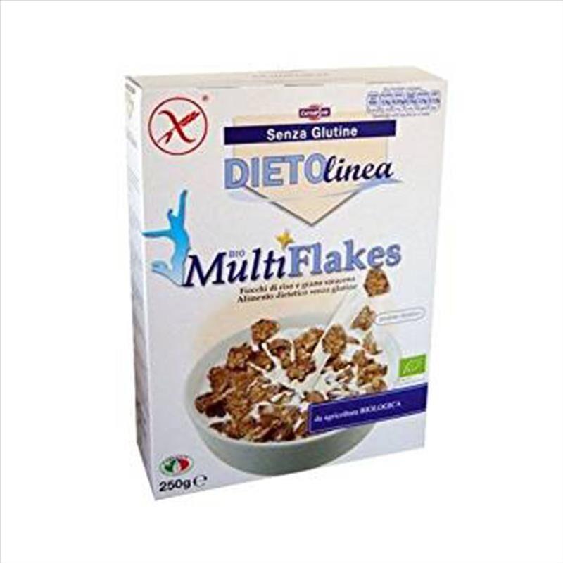 Cerealvit Bio Multiflakes Riso Grano Saraceno Senza Glutine 250 g