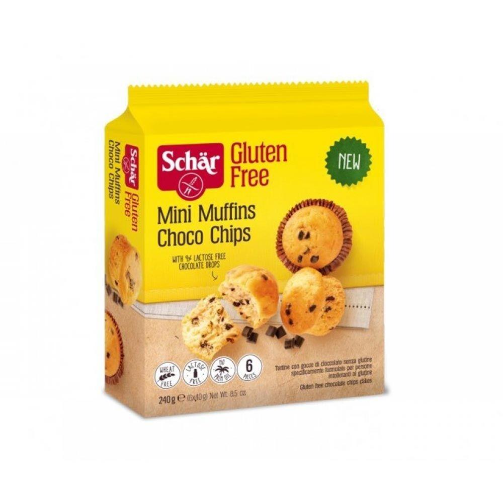 Schar Mini Muffin Choco Chips Senza Glutine, 240 g