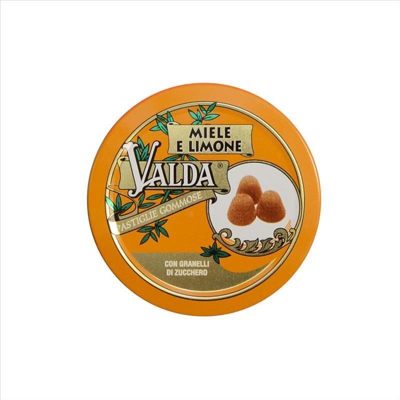perrigo valda - pastiglie gommose miele e limone con zucchero, 50g