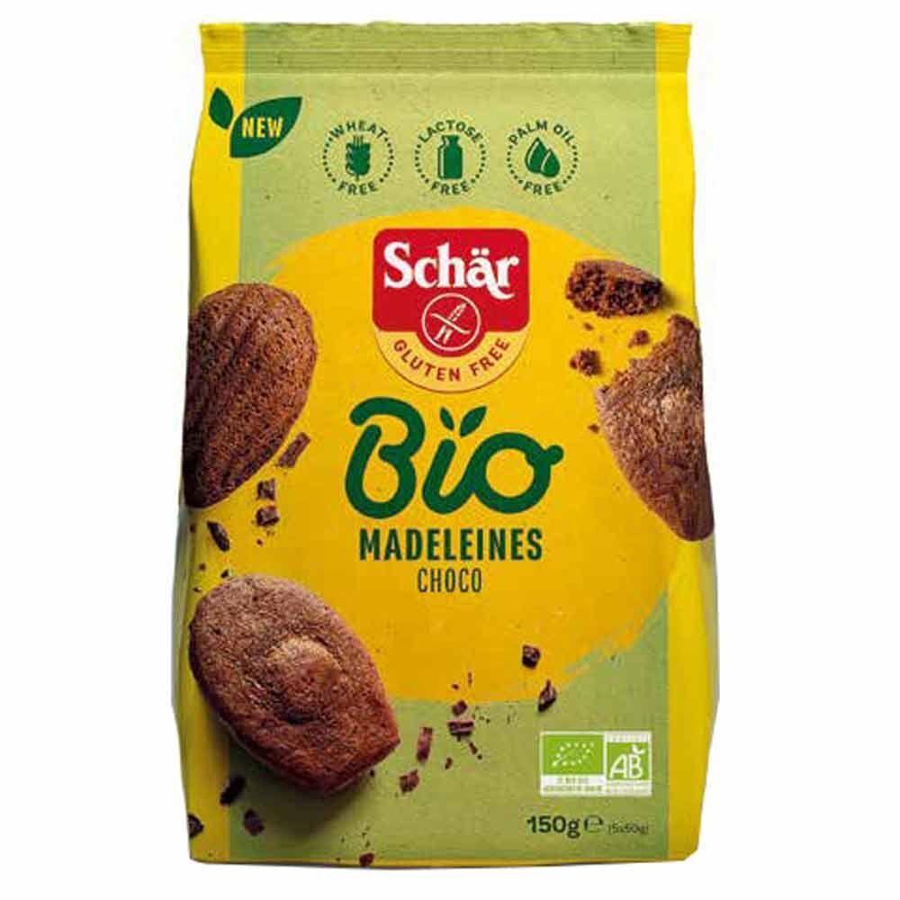Schar Madeleines Choco Bio Senza Glutine Senza Olio di Palma Vegetariani, 150g