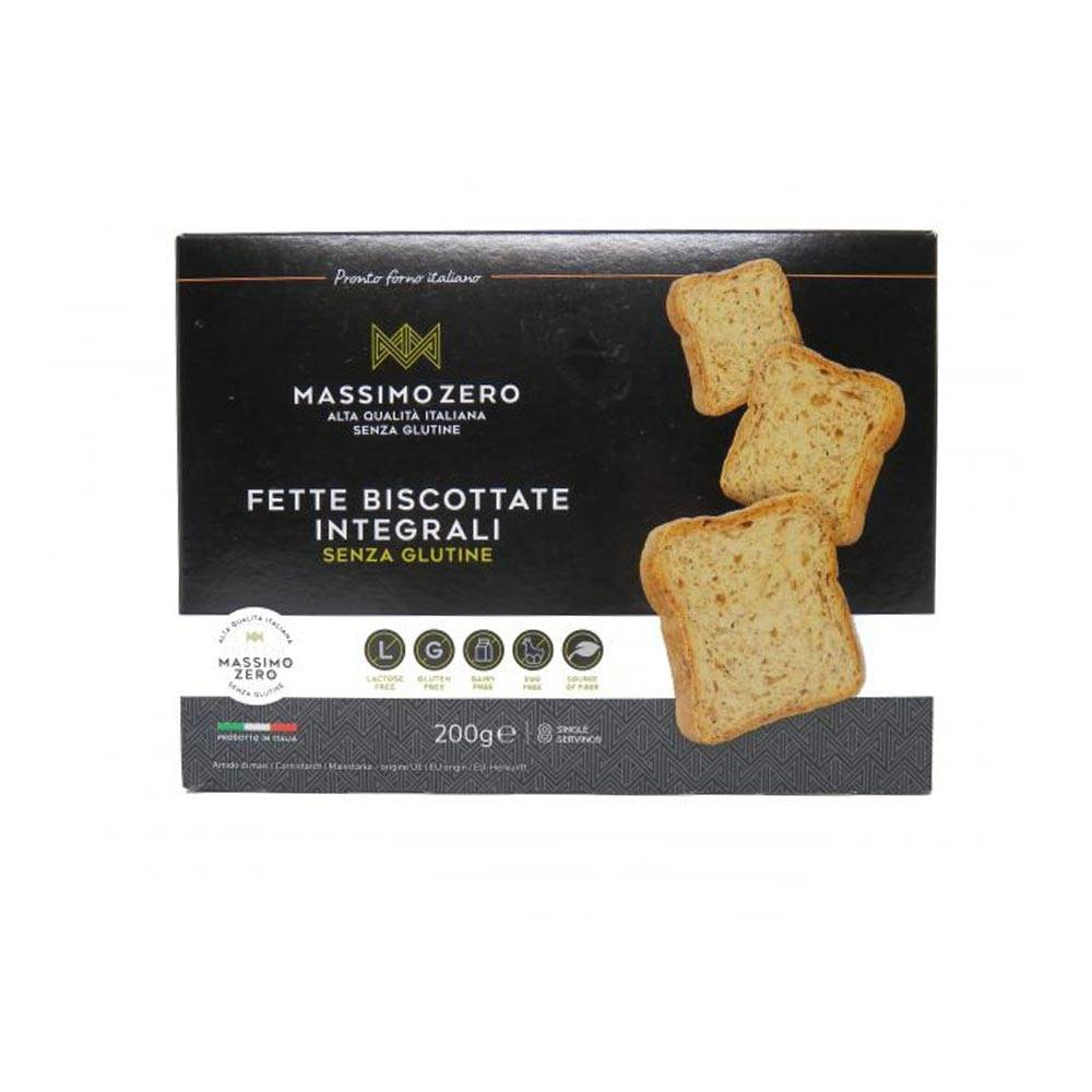 Massimo Zero Fette Biscottate Integrali Senza Glutine, 200g