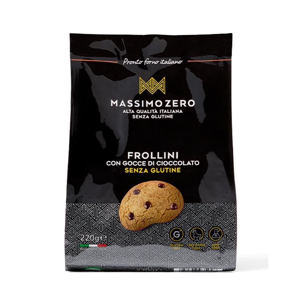 Massimo Zero Frollini con Gocce Cioccolato Senza Glutine, 220g