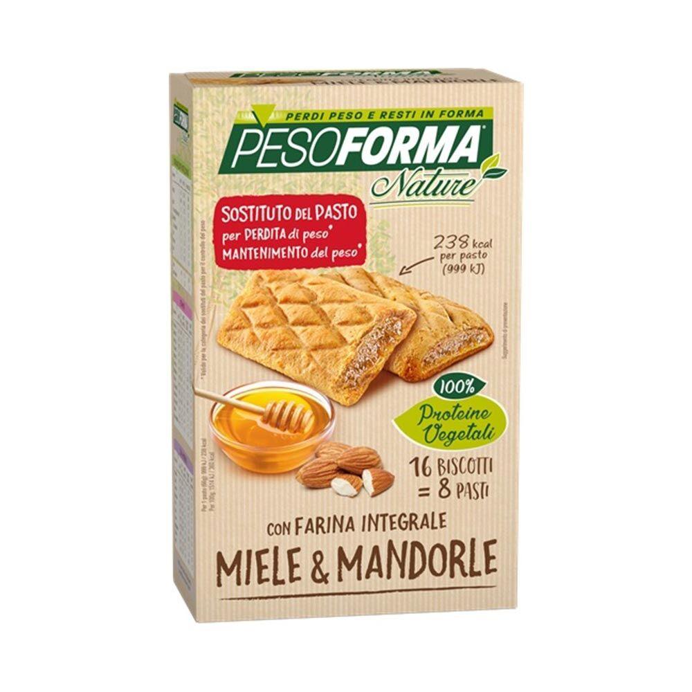 Pesoforma Nature - Pasto Sostitutivo Biscotto Miele e Mandorle, 16Biscotti