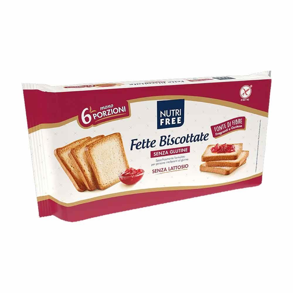 Nutrifree Fette Biscottate Senza Glutine 6 Monoporzioni