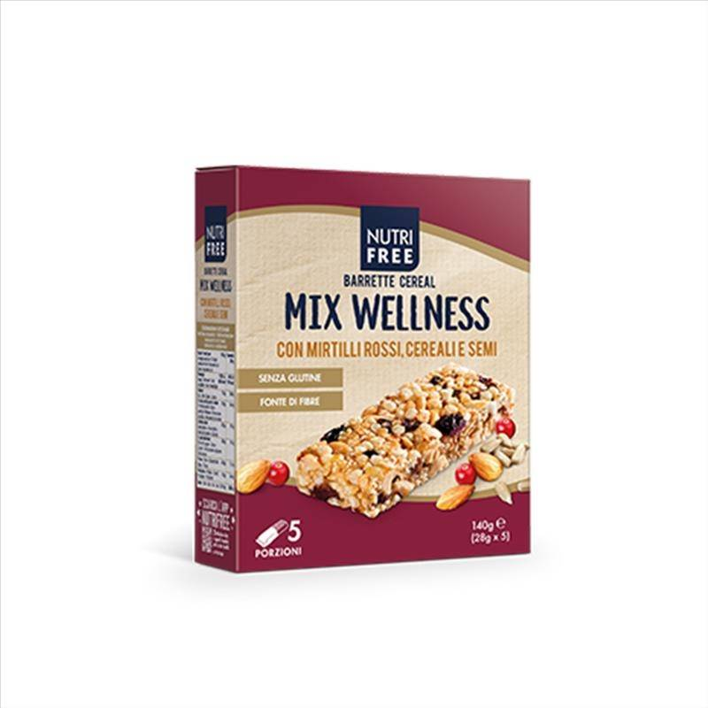 Nutrifree Barrette Cereal Mix Wellness 5 Monoporzioni Da 28 g