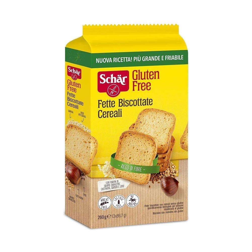 Schar Fette Biscottate Dietetiche Ai Cereali Senza Glutine, 260g