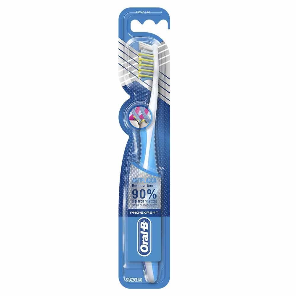 oral-b pro expert cross action anti placca spazzolino medio 40, 1 pezzo