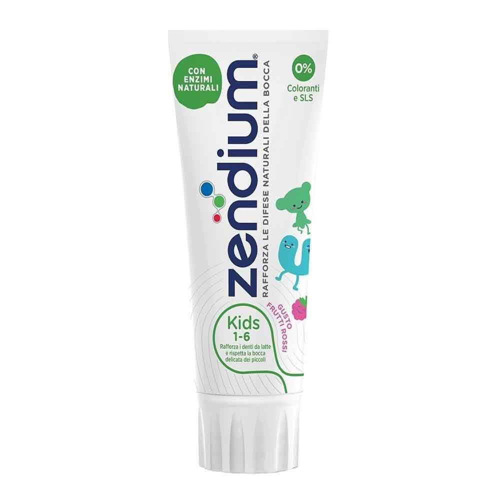 unilever zendium kids 1-6 anni dentifricio bambini 75 ml