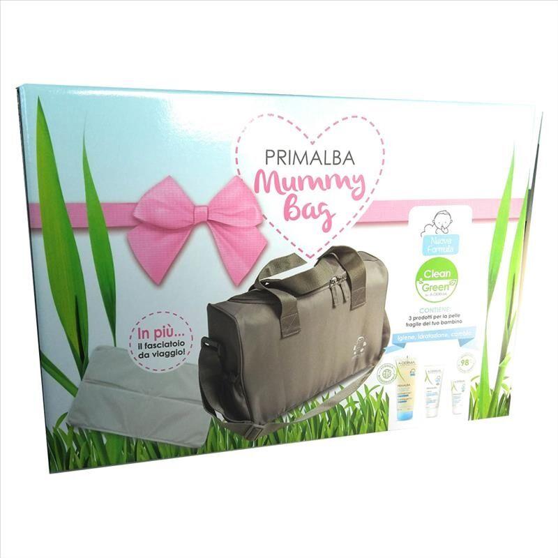 a-derma primalba mummy bag rosa 3 prodotti + fasciatoio da viaggio