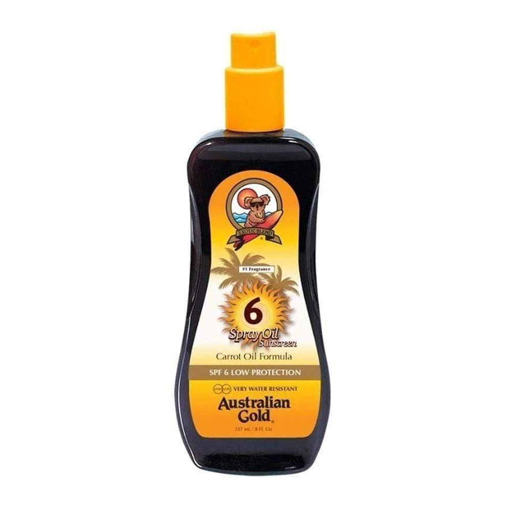 Australian Gold Spray Oil Olio Solare Spray con Olio di Carota SPF 6, 237ml