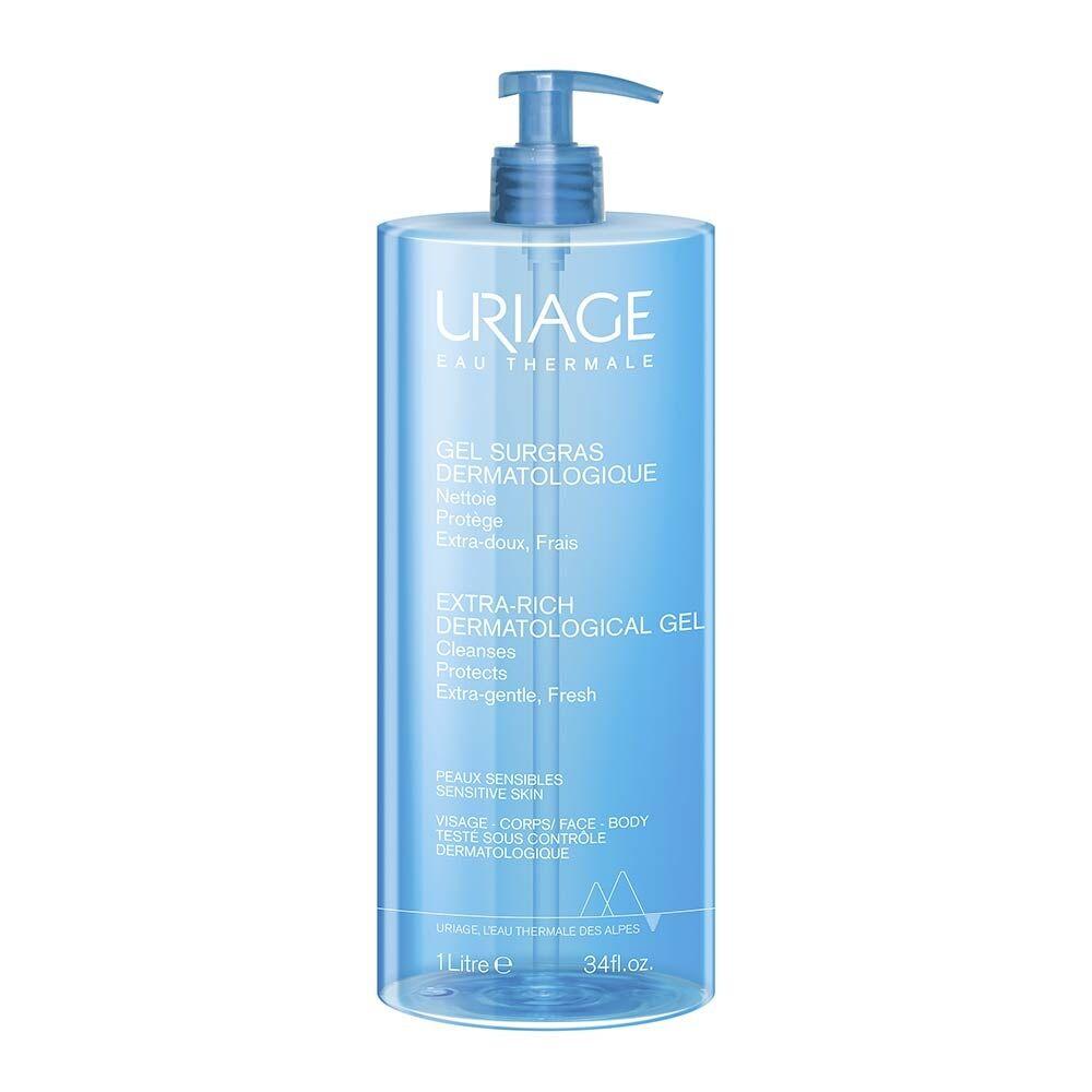 Uriage Eau Thermale - Gel Surgras Detergente Dermatologico, 1L