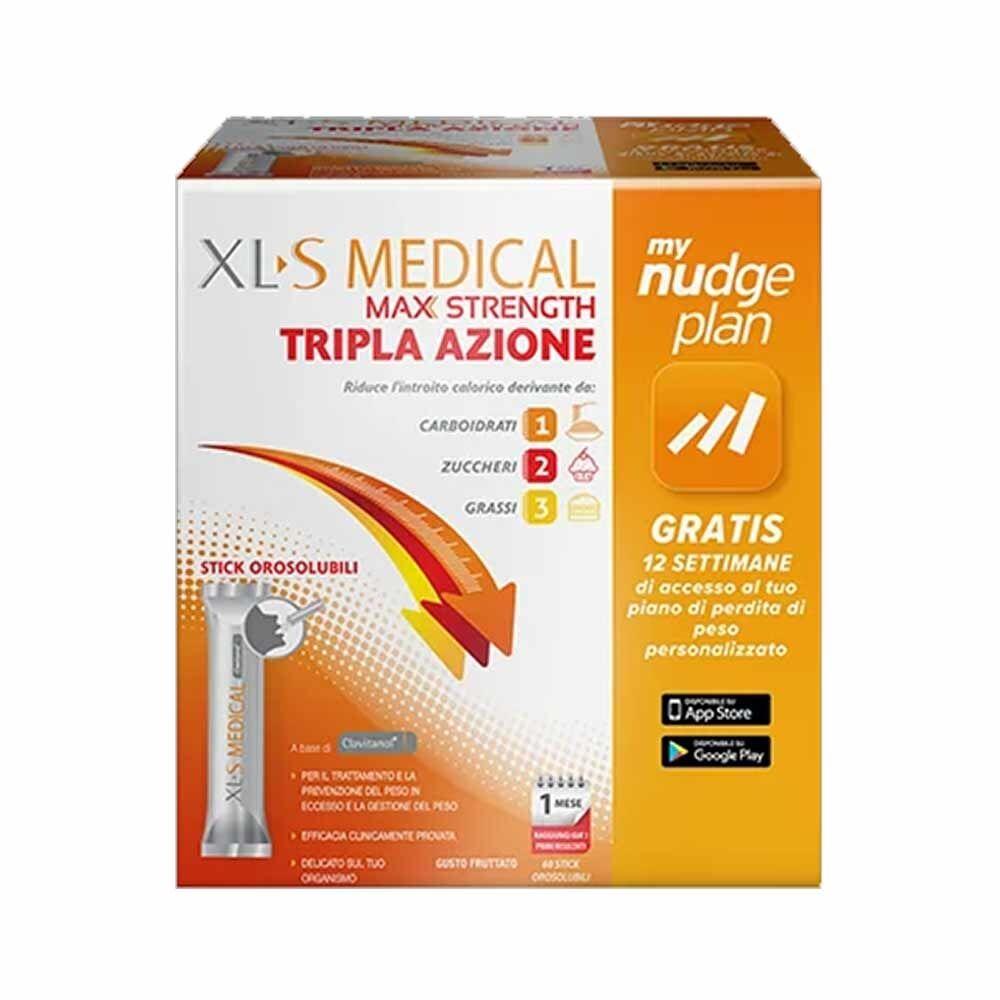 xl-s medical xls medical max strength integratore alimentare, 60 stick