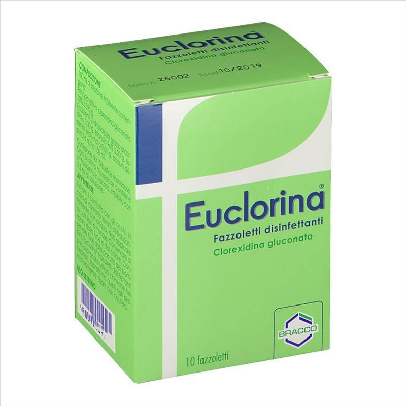 Bracco Euclorina Fazzoletti Disinfettanti, 10 Fazzoletti