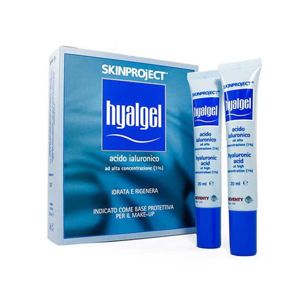 seventy bg skinproject hyalgel acido ialuronico idratante e rigenerante, 20ml + 20ml