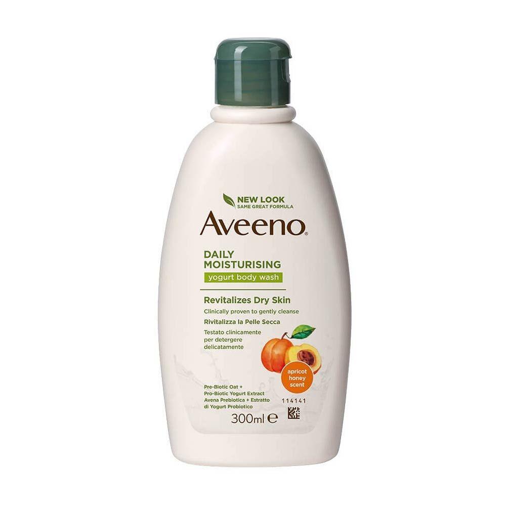 Aveeno Daily Moisturising - Bagno Doccia allo Yogurt Miele e Albicocca, 300ml