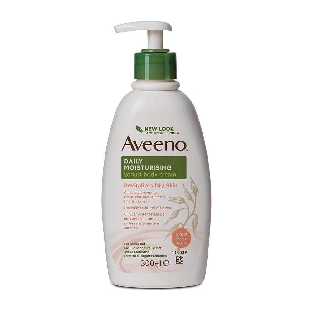 Aveeno Daily Moisturising - Crema Corpo Allo Yogurt Miele e Albicocca, 300ml