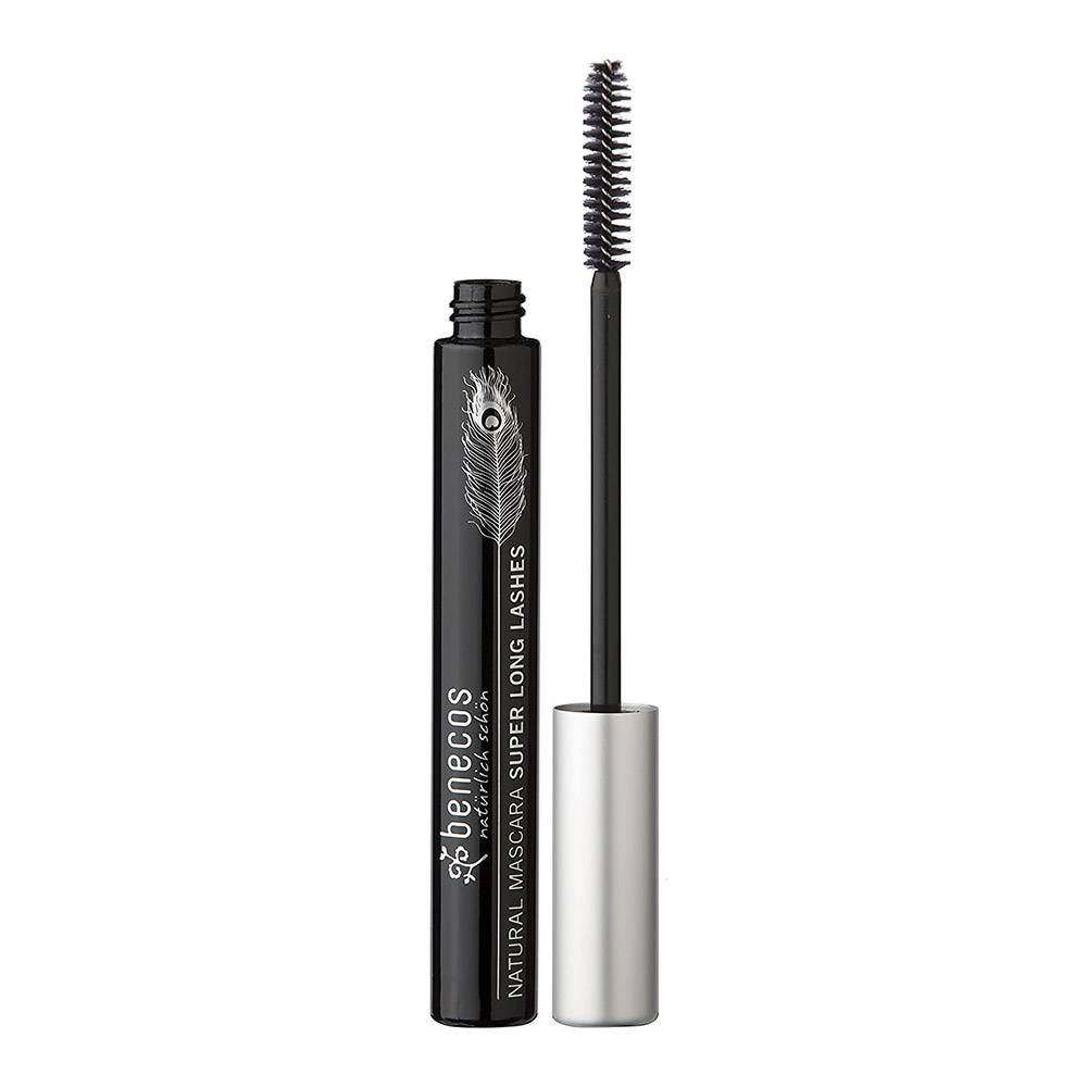 benecos natural mascara super long lashes carbon black, 8ml