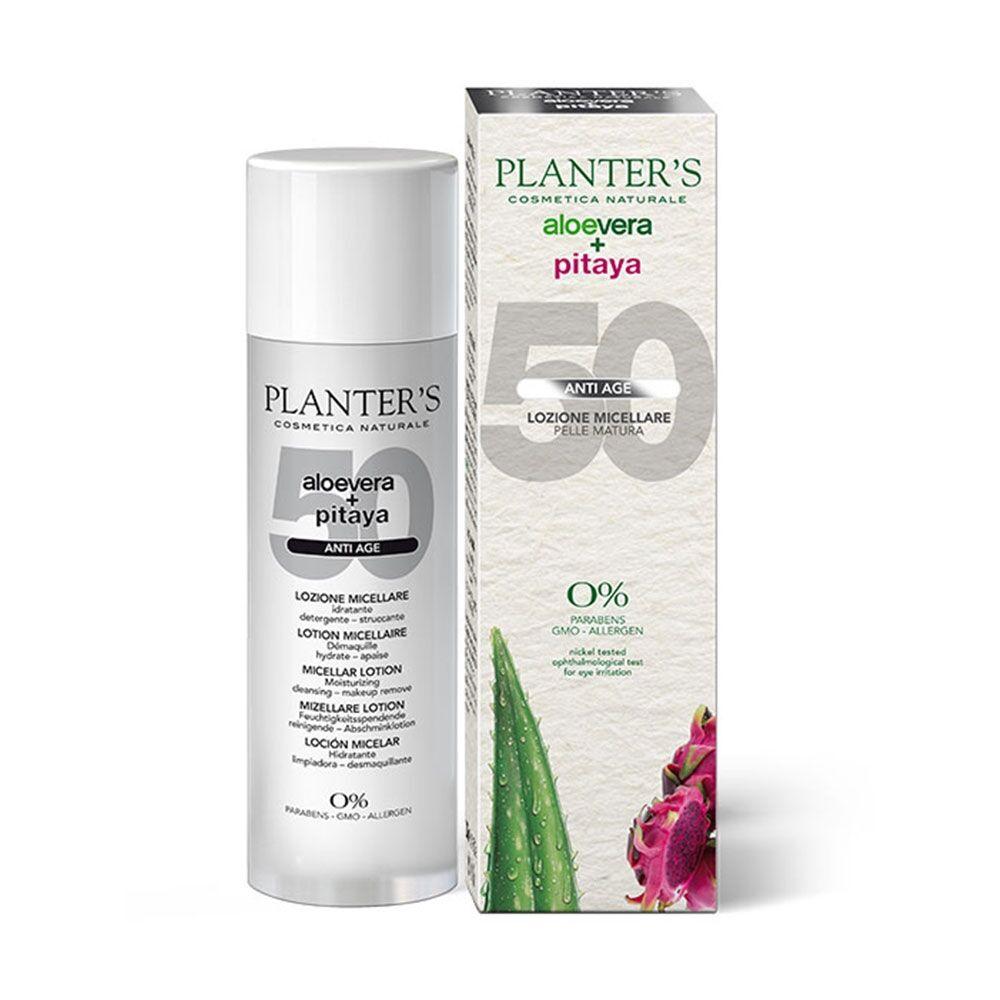 planters planter's aloe vera + pitaya - lozione micellare anti-age pelli mature, 200ml
