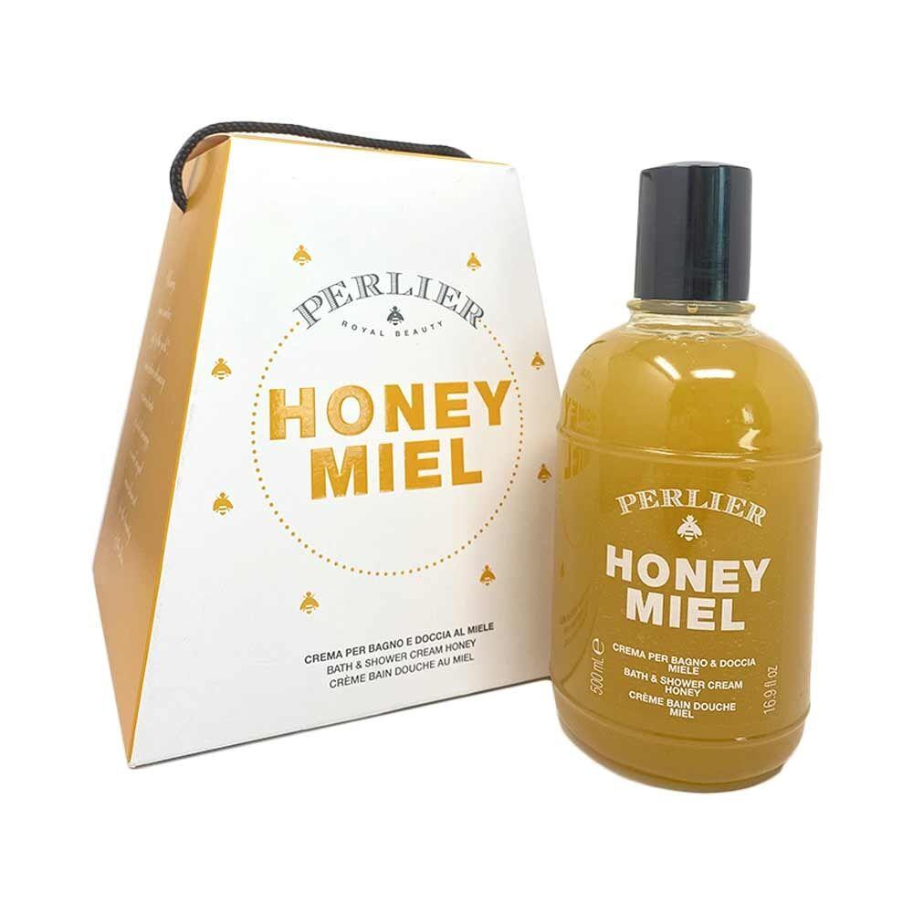 Perlier Honey - Panettone di Miele Crema per Bagno e Doccia al Miele, 500ml