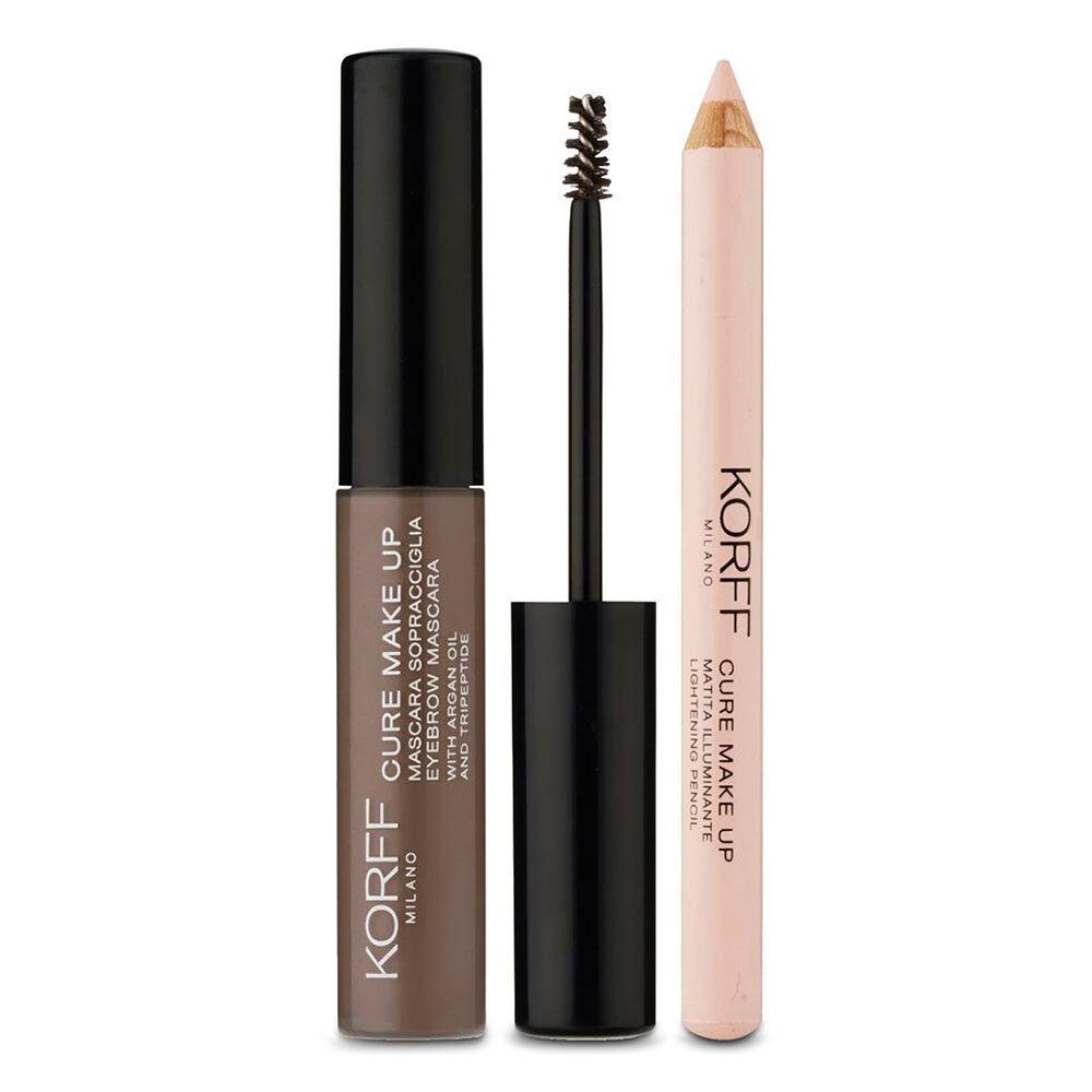 korff make up korff cure make up - kit sopracciglia mascara sopracciglia colore n. 02 + matita