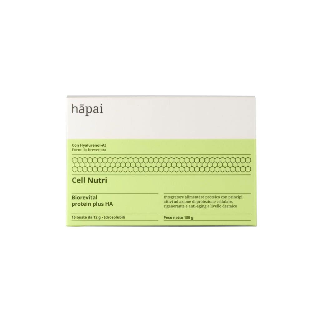 hapai cell nutri - biorevital protein plus ha integratore antiage, 15 buste