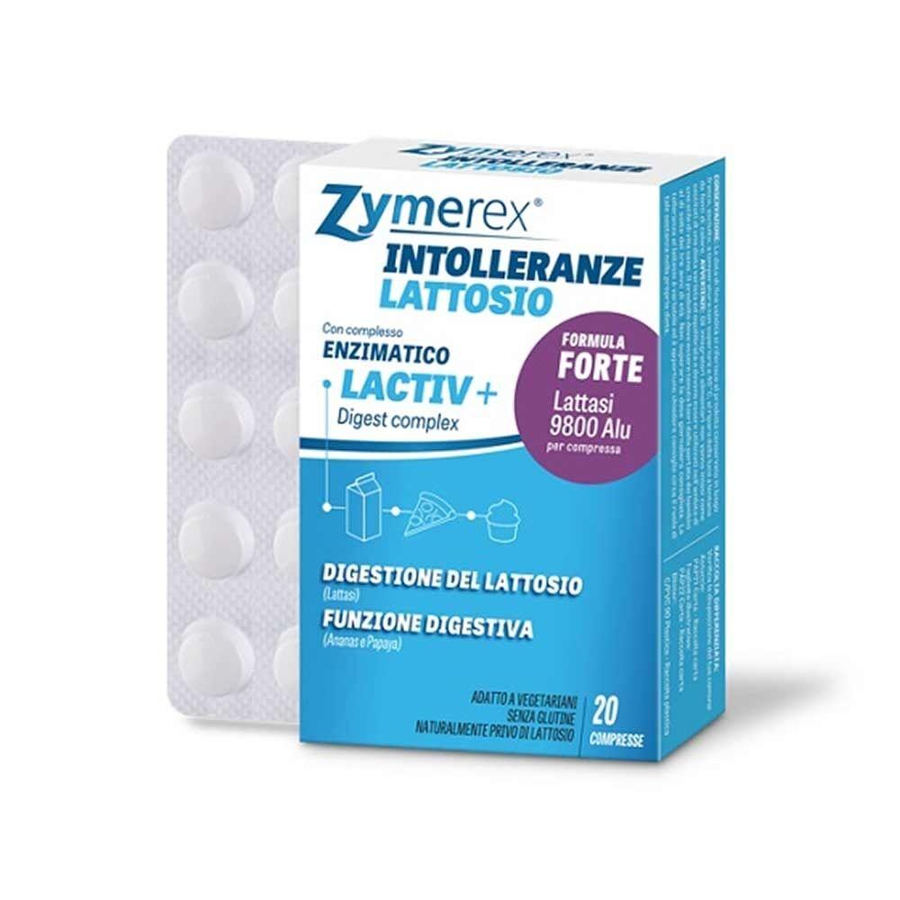 zymerex intolleranze integratore alimentare di enzimi, 20 compresse
