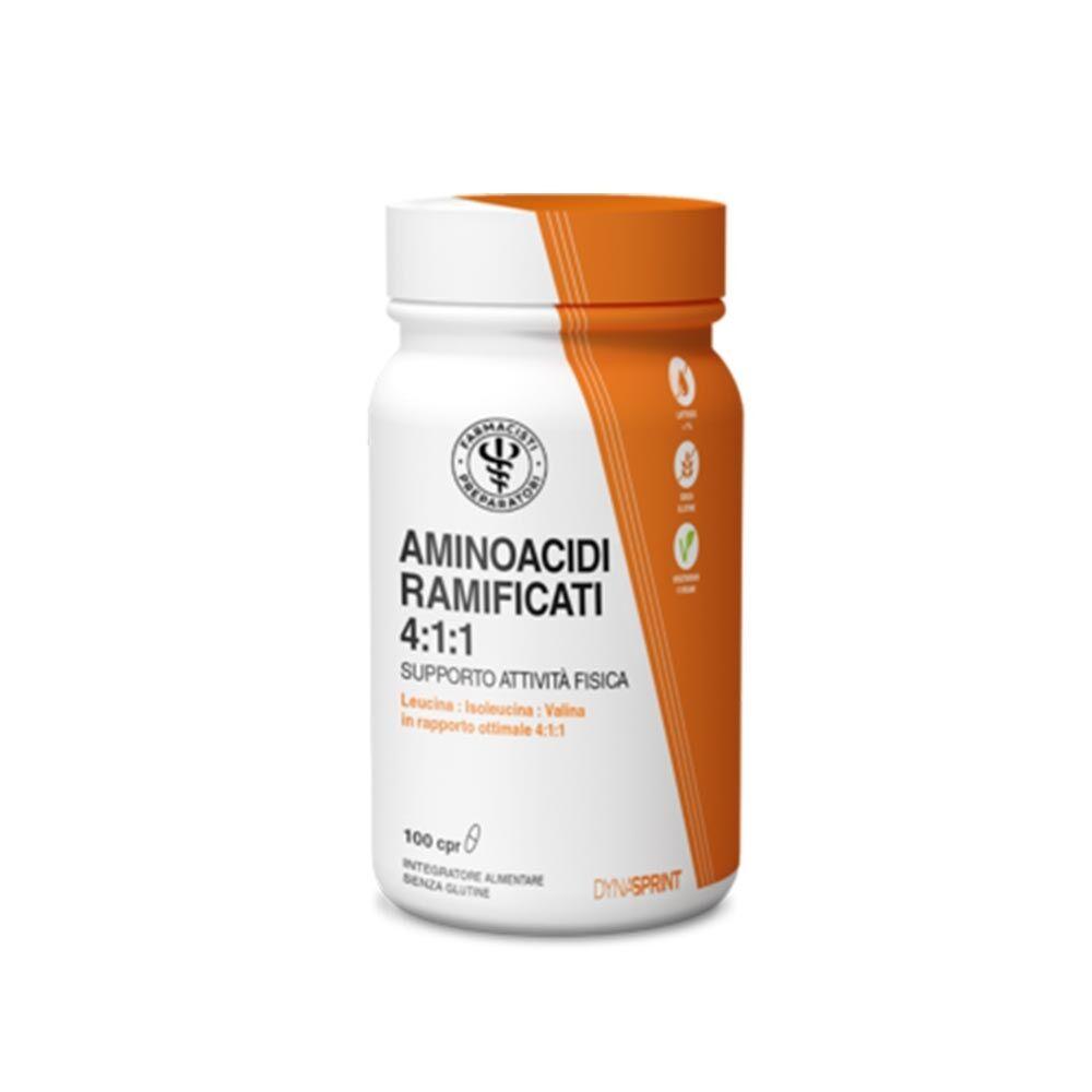 farmacisti preparatori aminoacidi ramificati 4:1:1 integratore, 100 compresse