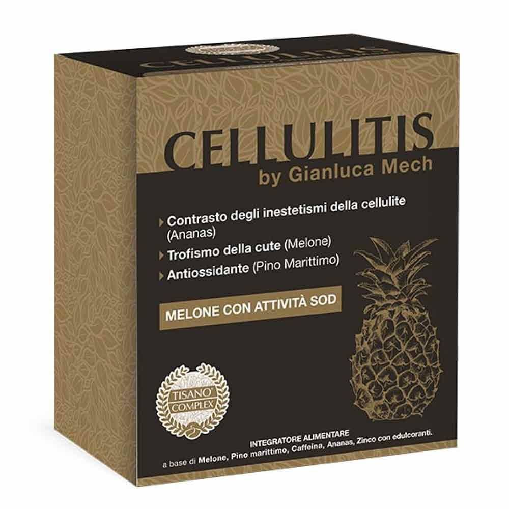 tisano-complex cellulitis by gianluca mech integratore anticellulite, 30 bustine