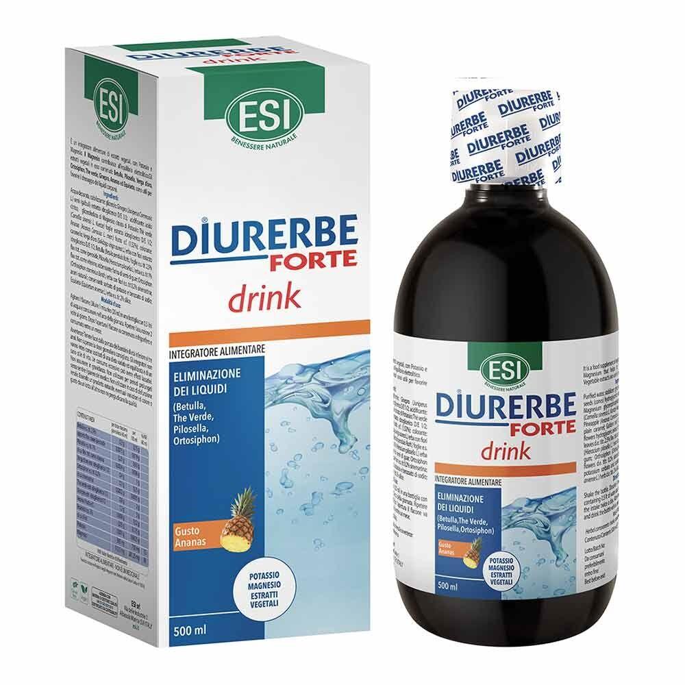 esi diurerbe forte - integratore drink diuretico e drenante gusto ananas, 500ml