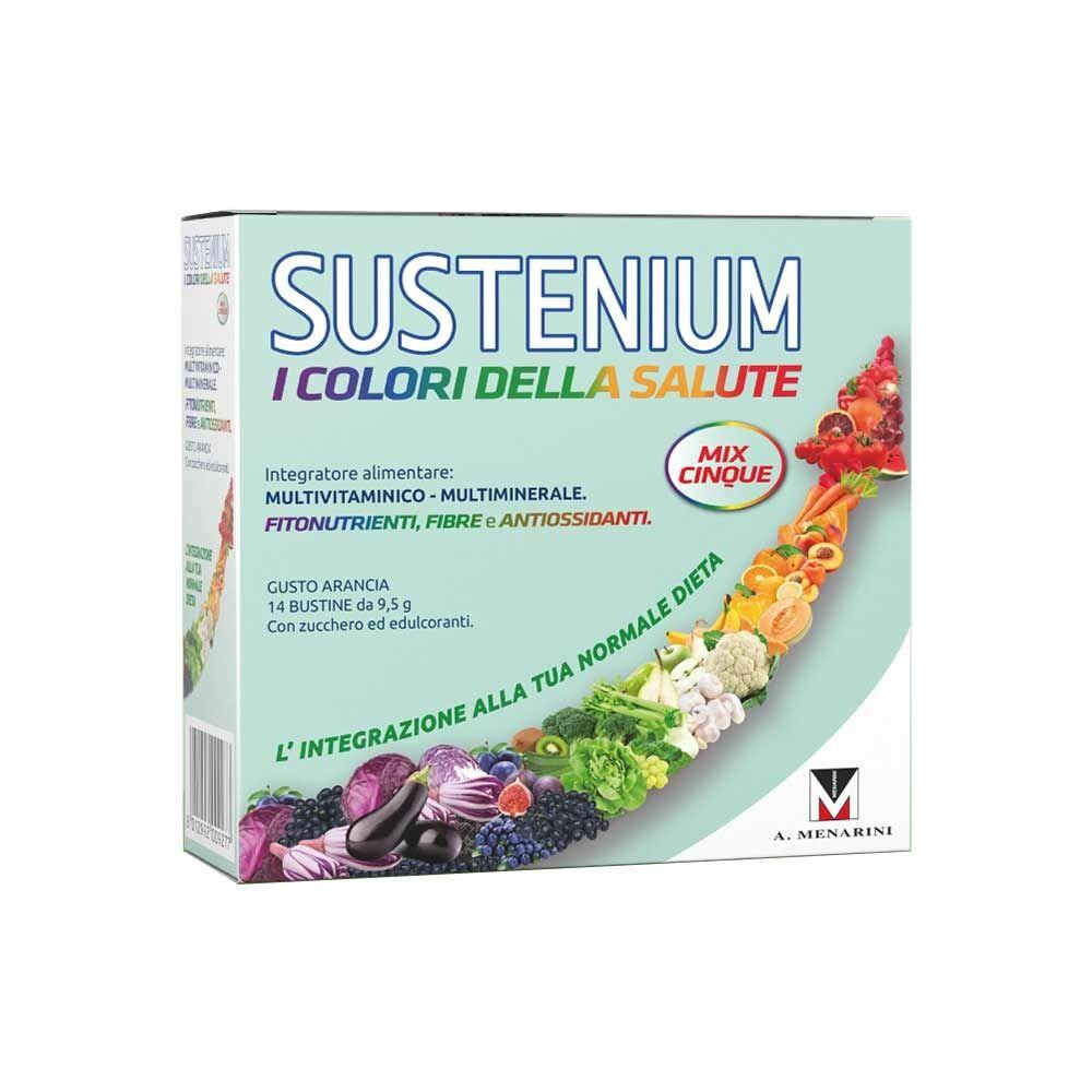 sustenium i colori della salute adulti integratore vitamine, 14 bustine