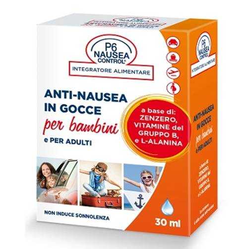 consulteam p6 nausea control anti-nausea in gocce per adulti e bambini, 30ml