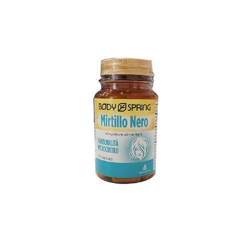 body spring integratore alimentare mirtillo nero 50 capsule