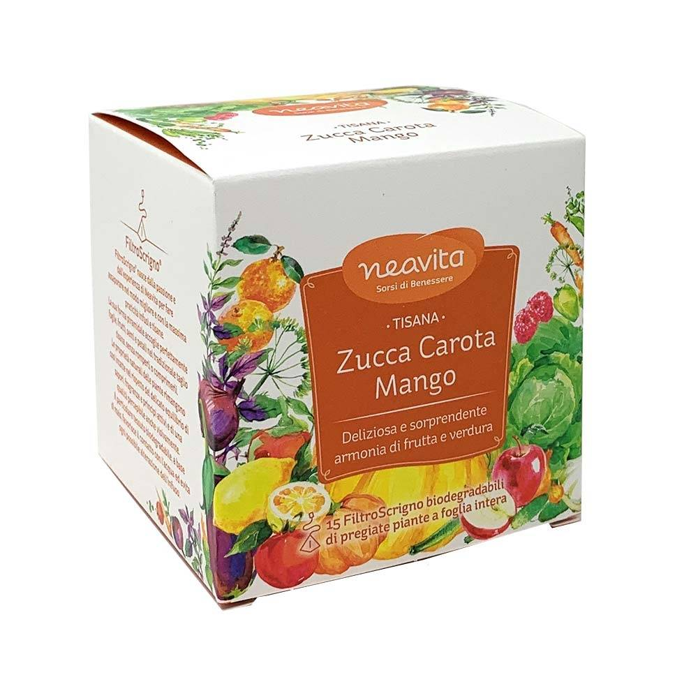 Neavita Zucca Carota e Mango Tisana Biologica, 15 Filtroscrigno