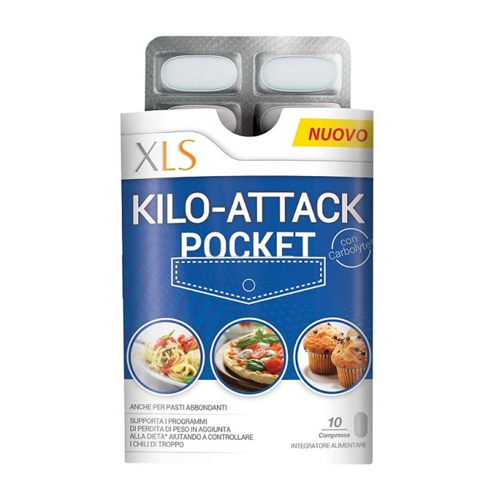 xl-s medical xls kilo attack pocket integratore per la perdita di peso, 10 compresse
