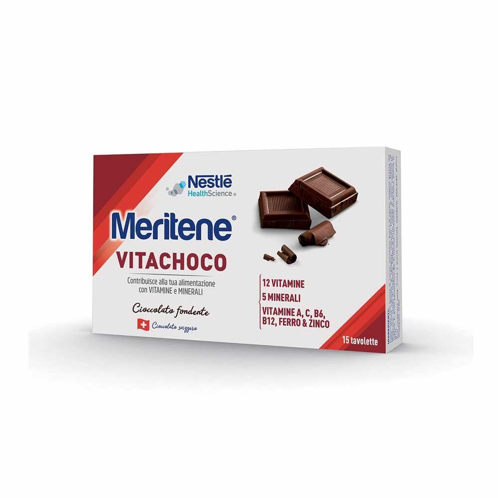Meritene Vitachoco Fondente Integratore Vitamine Minerali, 15 tavolette