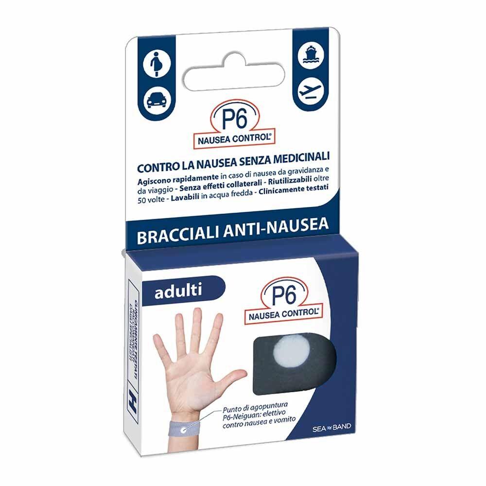 consulteam p6 nausea control bracciali anti-nausea adulti, 2 pezzi