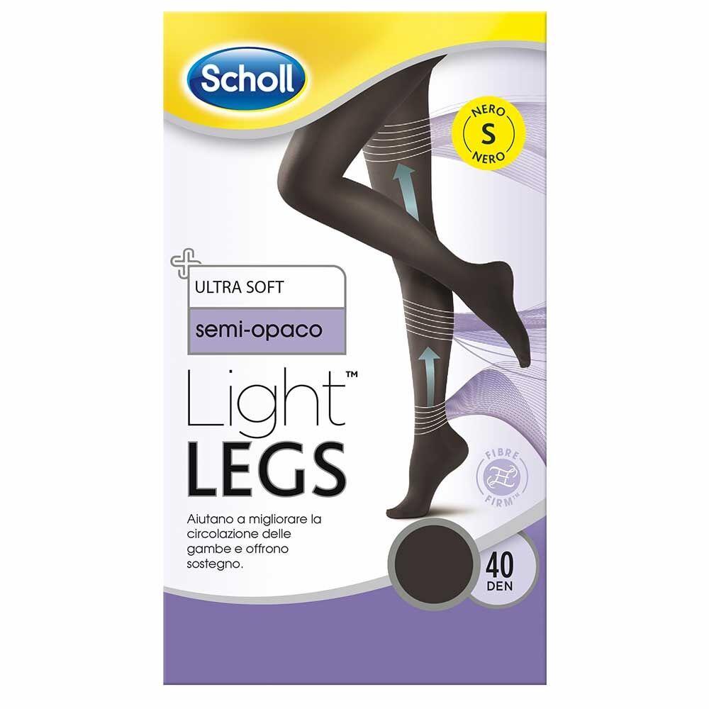 scholl light legs collant 40 denari colore nero taglia s, 1 paio