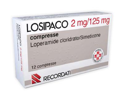 recordati losipaco 2 mg + 125 mg compresse 12 compresse in blister pvc/pvdc/al