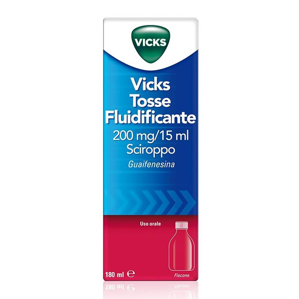 Procter & Gamble Vicks Tosse Fluidif 200 Mg/15 Ml Sciroppo 1 Flacone 180 Ml