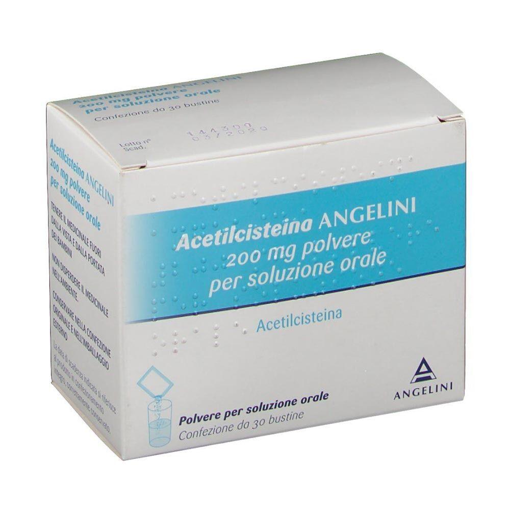 Angelini Acetilcisteina Ang 200 Mg Polvere Per Soluzione Orale 30 Bustine